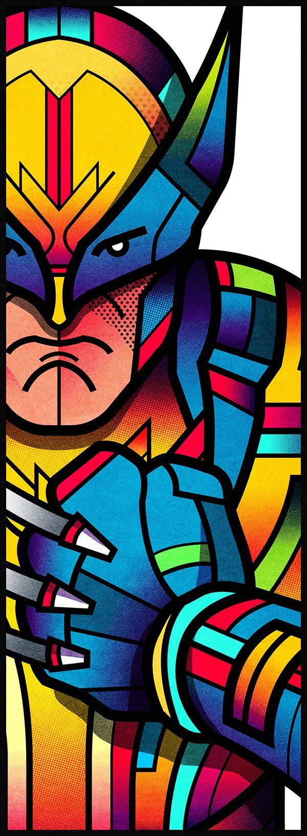 dibujos de colores de wolmerin