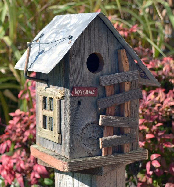 Rustic Birdhouses | Rustic mountain cabin birdhouse | love me some Birds & Birdhouses