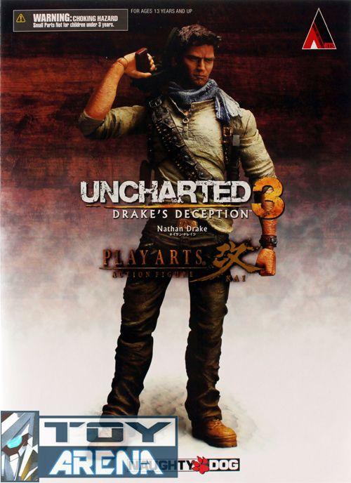 uncharted 3 nathan drake play arts action figure