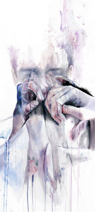 Detail of 'Gestures' by Agnes Cecile - Fine art prints available in a variety of formats at Eyes On Walls - http://www.eyesonwalls.com/collections/vendors?q=Agnes%20Cecile