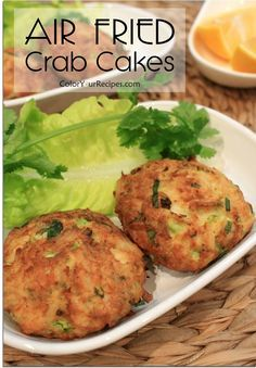 Simple and Easy Air Fryed Crab Cakes   Color Your Recipes
