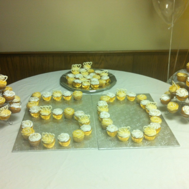 50th Wedding Anniversary Cupcakes