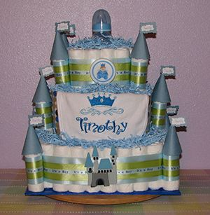 diaper castle for the prince or princess to be!