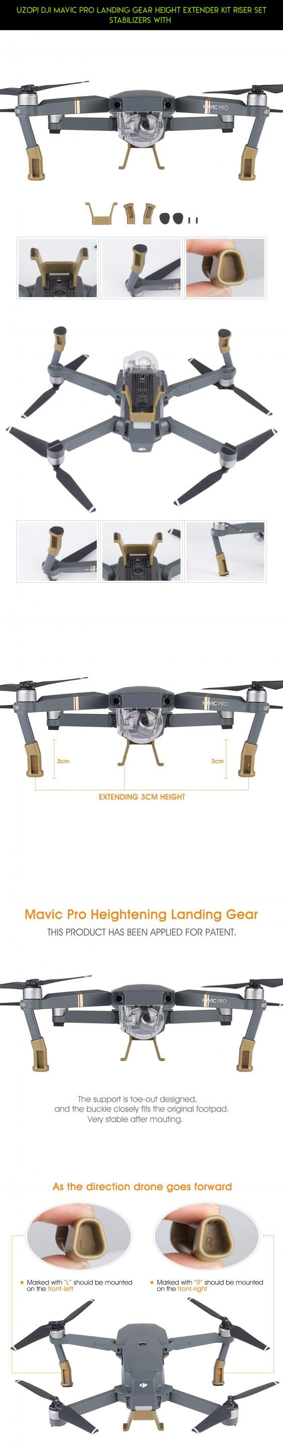 UZOPI DJI Mavic Pro Landing Gear Height Extender Kit Riser Set Stabilizers with #racing #drone #technology #landing #kit #pro #plans #camera #gear #parts #gadgets #stabilizers #products #mavic #tech #fpv #shopping