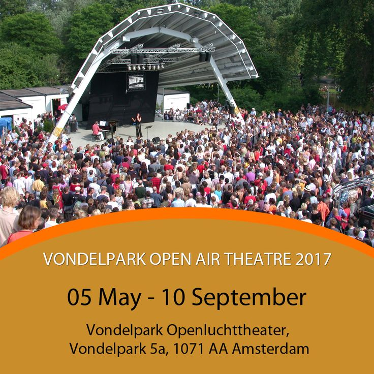 Vondelpark Open Air Theatre (Vondelpark Openluchttheater) is a free annual theatre and concert series that makes use of the charming Vondelpark in Amsterdam.  It will head on 05 May - 10 September at Vondelpark Openluchttheater, Vondelpark 5a, 1071 AA, Amsterdam. #WFA #WorldFashionApartments #VondelparkOpenAirTheatre #Amsterdam #Event