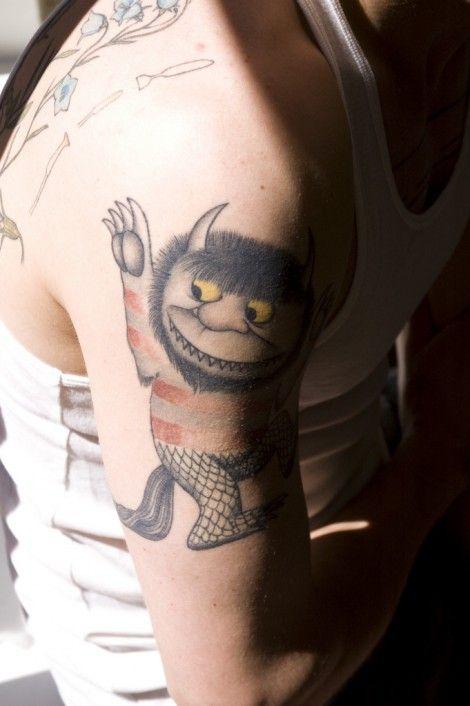 aww i want this!Tattoo Ideas, Poker Tattoo, Animal Tattoo, Wild Things, Literary Tattoo, Tattoo Design, A Tattoo, Children Book, Storybook Tattoo