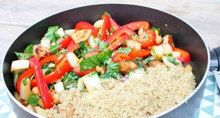 Pittige kip met quinoa en paksoi recept