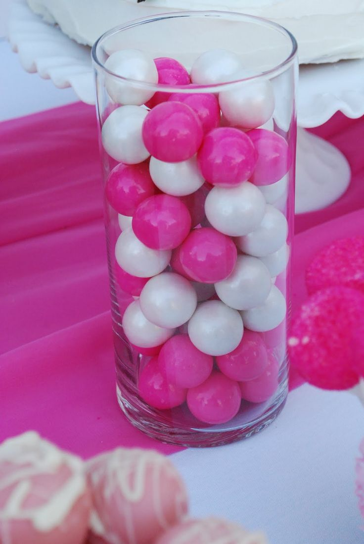 Bubble Gum Centerpiece for a Hello Kitty Birthday Party