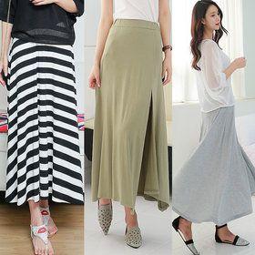 Gmarket - long skirt / pleats skirt / flared skirt