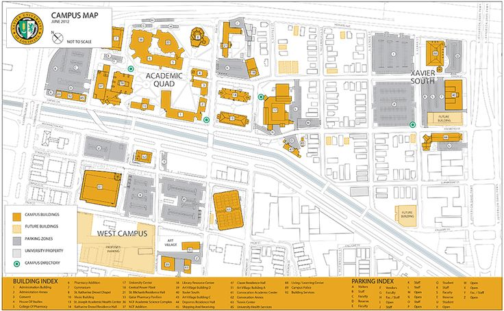 Campus Map Admission Xavier University of Louisiana College