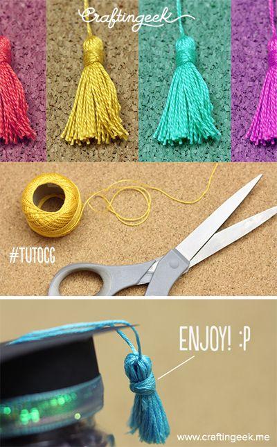 Hacer borlas para pulseras, accesorios y demás es super bonito. Te enseño en www.craftingeek.me -Liz*
