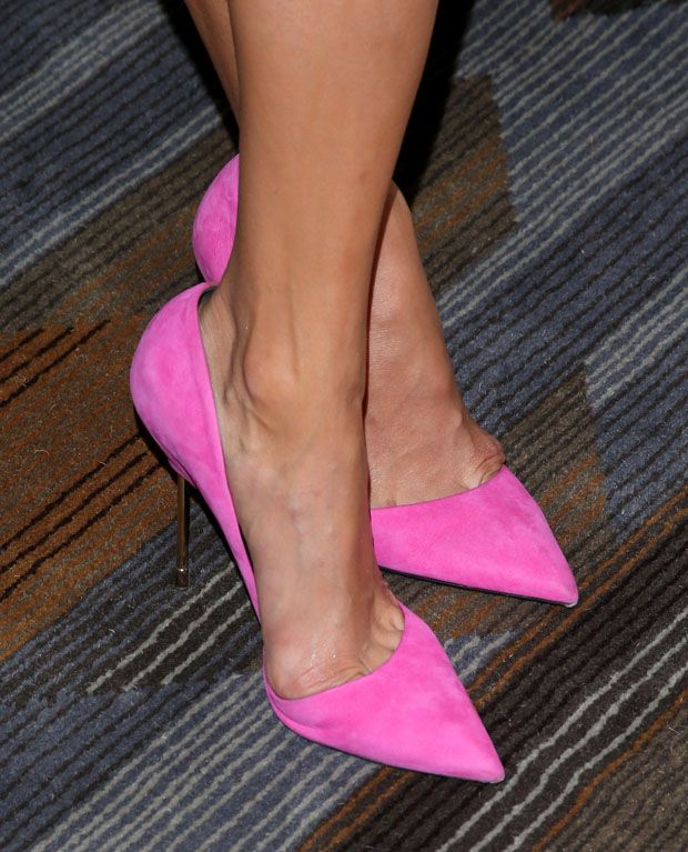 kurt geigers on the feet of nina dobrev. #shoeporn
