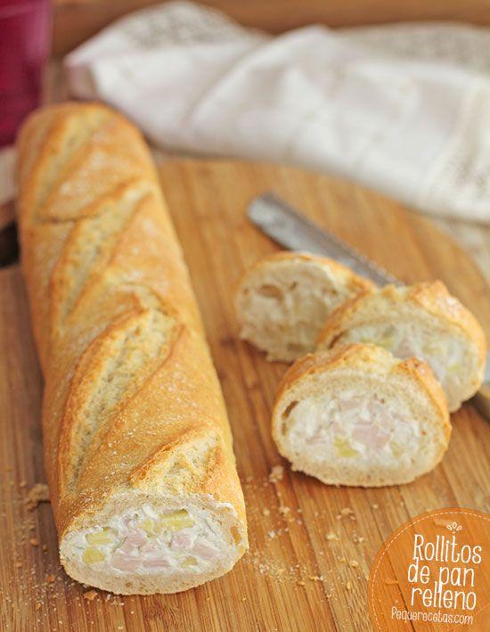 Rollitos de pan relleno, una receta de verano riquísima