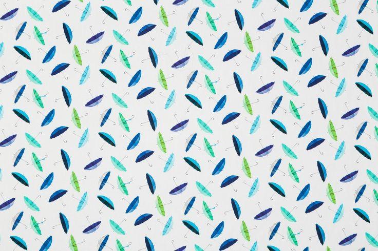 Parasolki (biel) - tkanina bawełniana