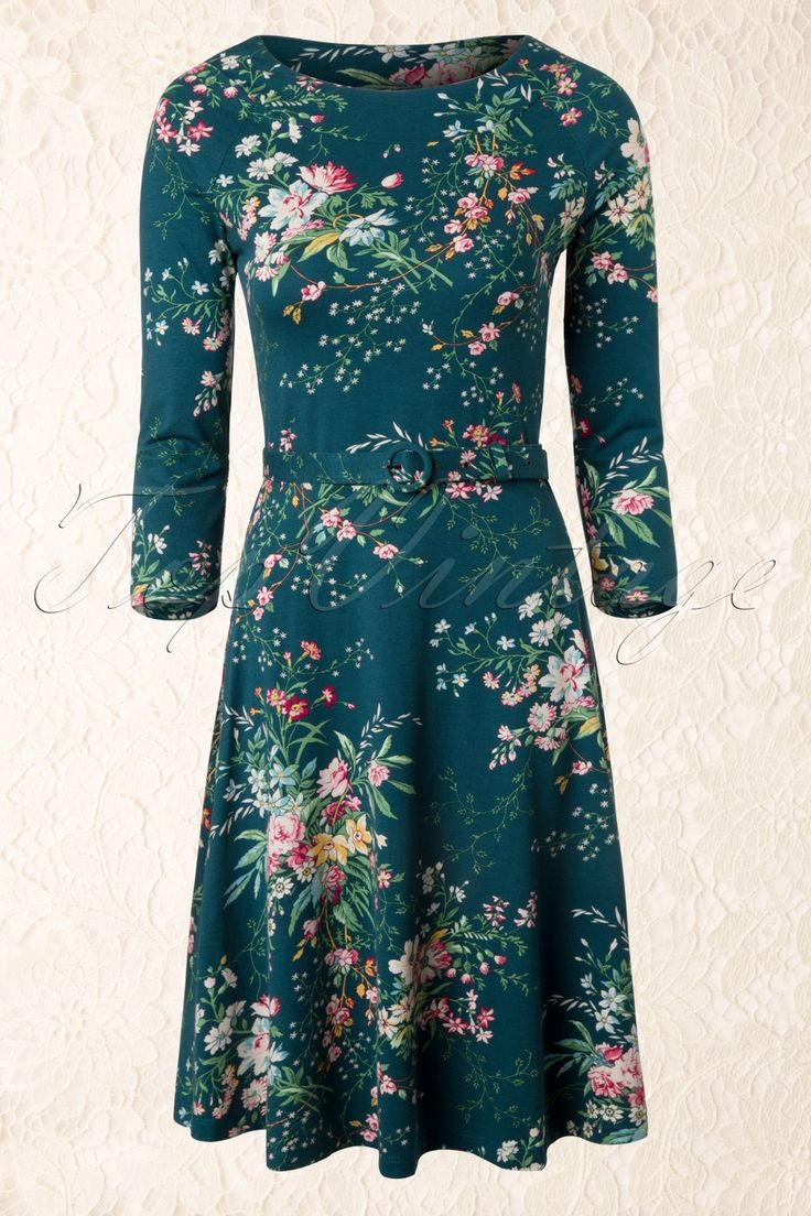 King Louie - 50s Magnolia Skater Dress in Dragonfly Blue
