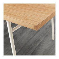 IKEA - ANVÄNDBAR, Tafel, Een wat bredere tafel met voldoende plaats voor etentjes, huiswerk maken, knutselen en andere dagelijkse activiteiten.Tafelblad van het zeer sterke materiaal bamboe.De lade in het midden van het tafelblad is ideaal voor het opbergen van bijvoorbeeld bestek en kruiden of pennen en papier.Als je aan de tafel werkt, heb je geen last van chaotische snoeren van een laptop of andere apparatuur, omdat je de snoeren door de opening in de lade van de tafel kan wegleiden.Wil…