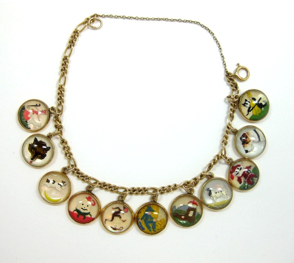 Nursery Rhymes 14K Gold Charm Bracelet Reverse Crystal, Humpty Dumpty Vintage | eBay..