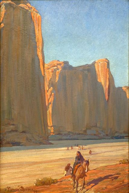 Cliffs of del Muerto by Maynard Dixon