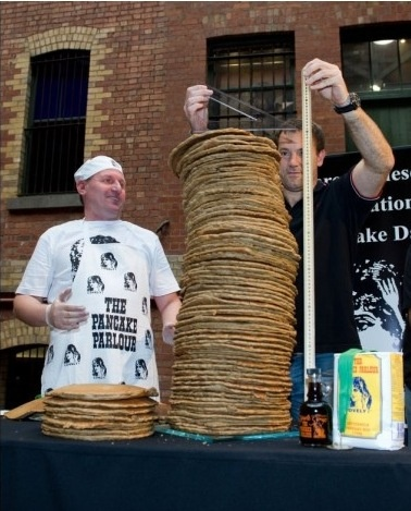 「pancake stacking world record」の画像検索結果