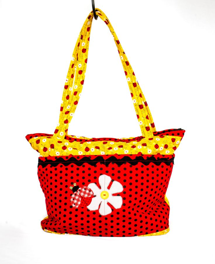 Diaper Bag, Baby Shower Gift, Cute Diaper Bag, Baby Shower, Baby Bag, Newborn Gift, Tote Bag, Lady Bug by SewBusyBags on Etsy