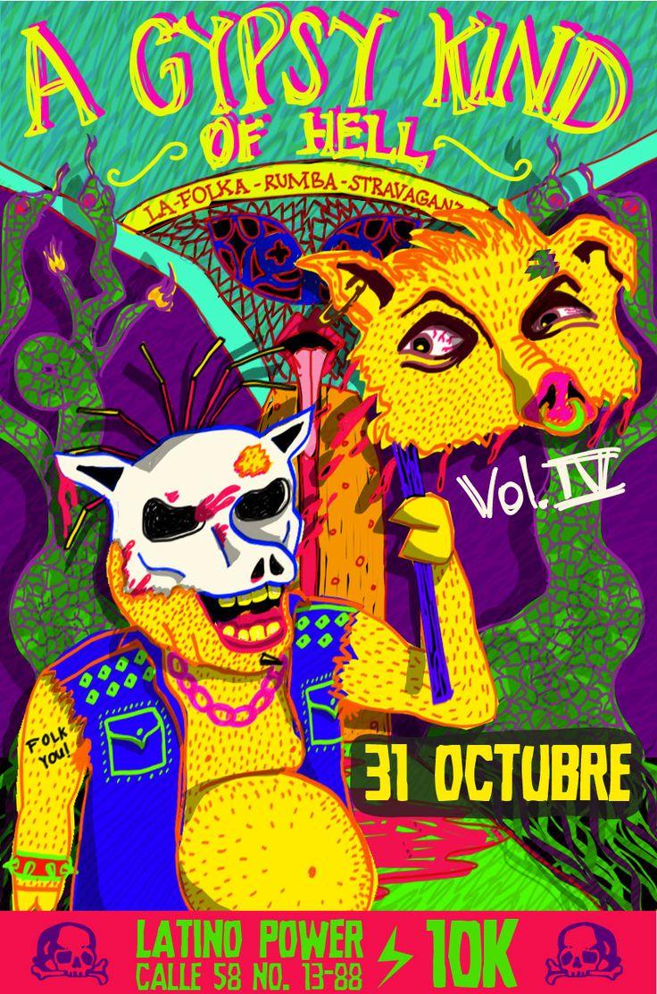 Poster para La Folka Rumba Stravaganza de Halloween (2013)