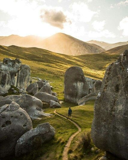 Walk among stone giants (The Elephant Rocks near Duntroon in North Otago, New Zealand). Photo by Alexandre Gendron Photography