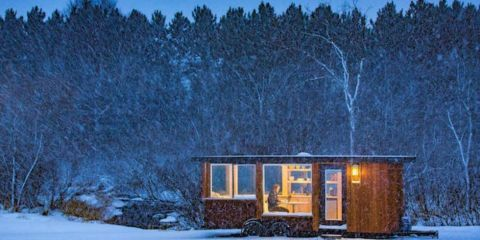This Tiny Home Is the Perfect Place to Watch the Snow Fall