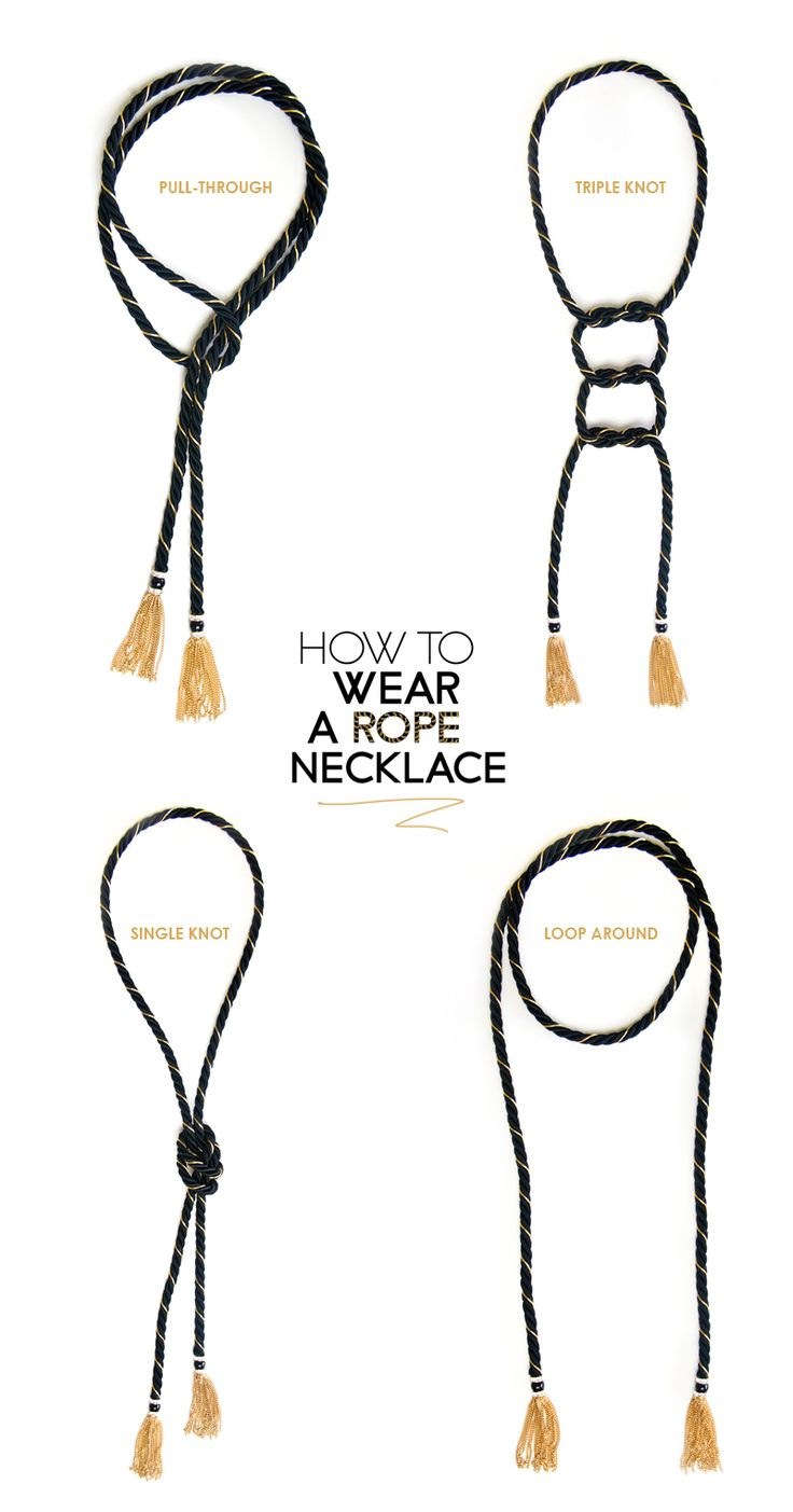 four ways to wear a tassel rope necklace