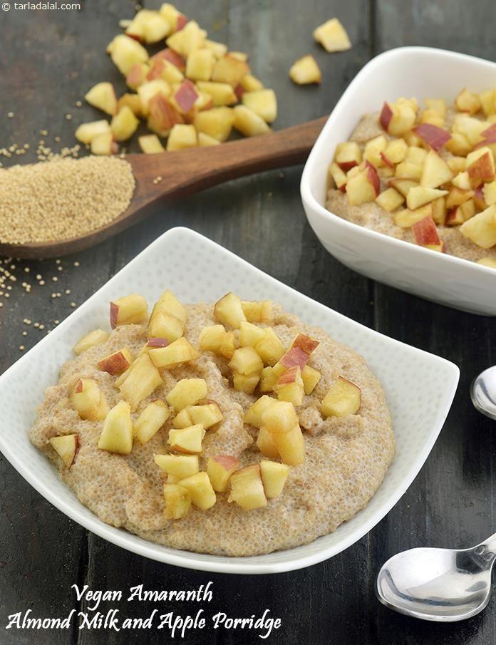 Vegan Amaranth Almond Milk and Apple Porridge