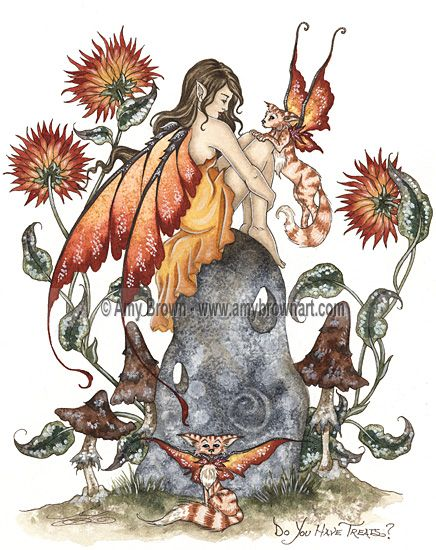 Amy Brown: Fairy Art - The Official Gallery - Do You Have Treats