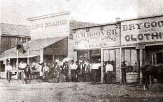 Long Branch Saloon, Dodge City, about the time Luke Short bought it.