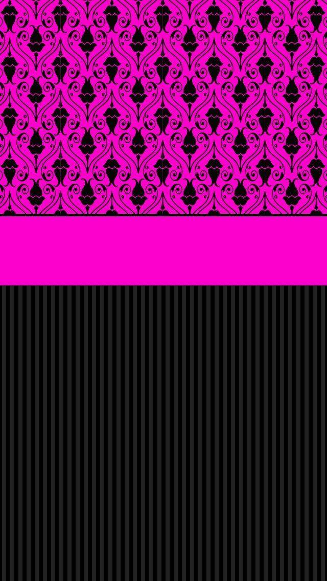26Vicky.png (640×1136) Pink and black wallpaper, Glam