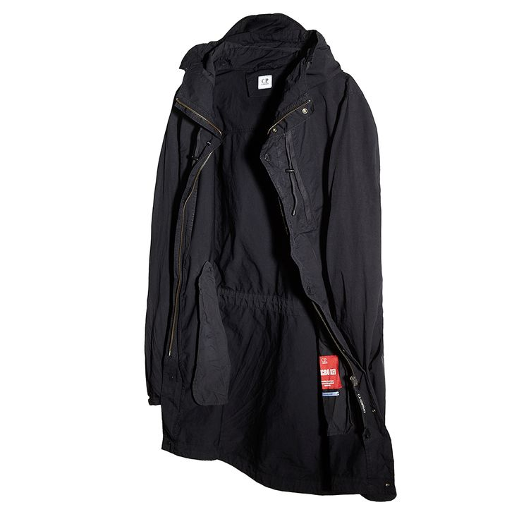 MICRO KEI Light Microfibre Goggle Hood Parka in Black | Urban ...