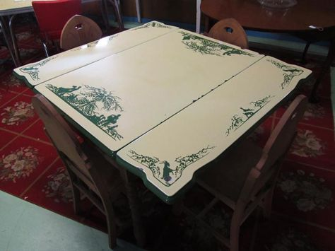 66 best vintage enamel kitchen tables images on pinterest for Table 52 goat cheese biscuits