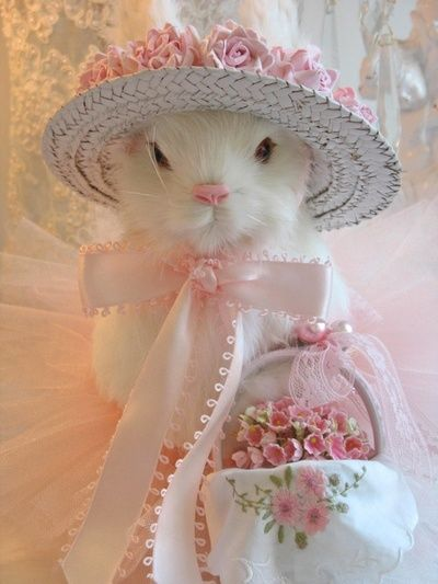 Easter Bunny...I want this one! She would stay out all year under a glass cloche!