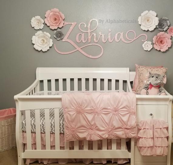 Wooden Name Sign For Nursery Wall Decor Baby Girl Boy