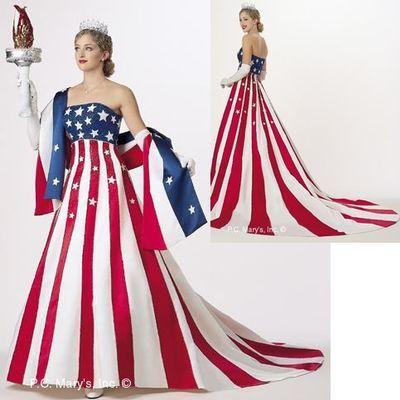 Fourth Of July Wedding Gown Wedding Design Flag Dress