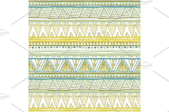 Ethnic Seamless patterns vector by Rommeo79 on @creativemarket