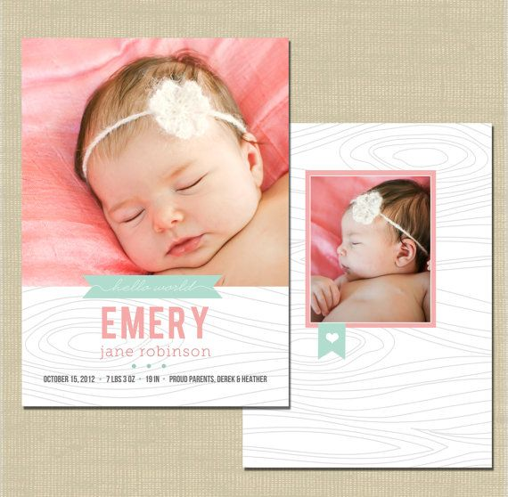 birth announcement photoshop card template precious on etsy newborn birth