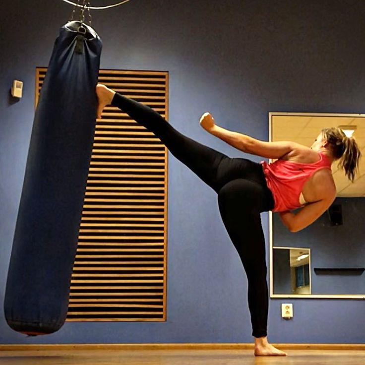 Karate Star Kicking The Bag Martial Arts Women Martial Arts Workout Martial Arts Girl
