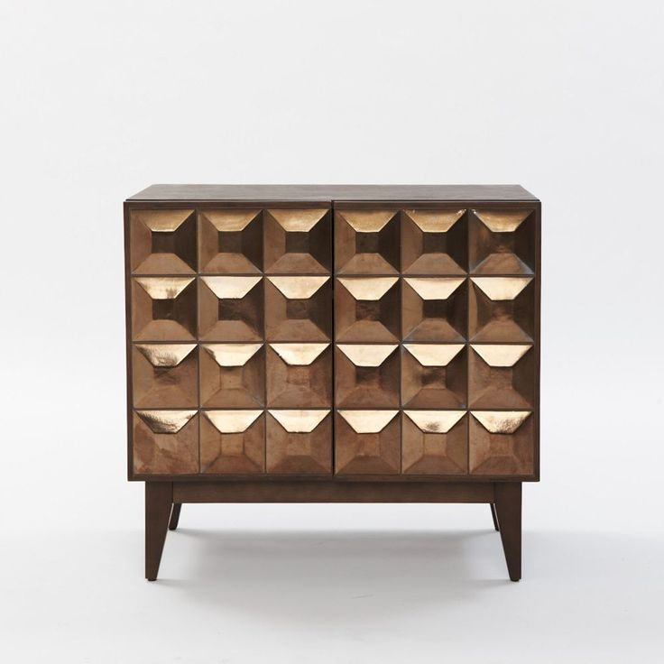 Love this. Lubna Chowdhary Tiled Dining Storage - Smoke from West Elm