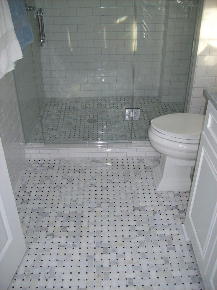 flooring ideas for small bathrooms%0A Best     Pebble tile shower floor ideas on Pinterest   Pebble shower floor   Master bathroom shower and Grey tile shower