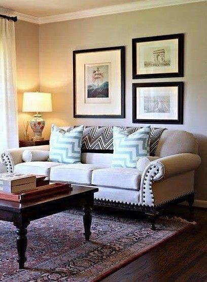 Decorating Walls Behind Sectional Sofa : Best wall behind sofa ideas on