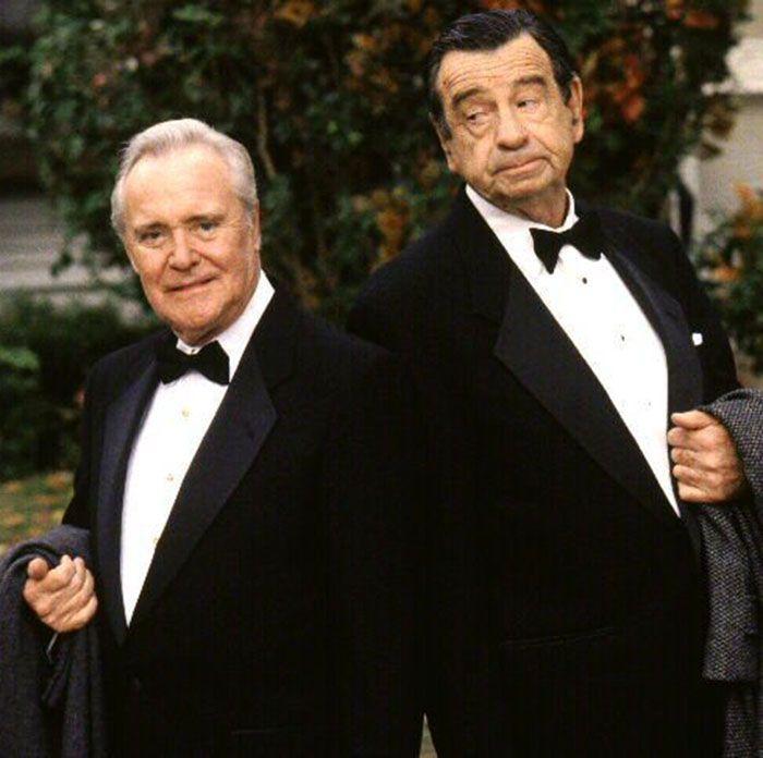 """Jack Lemmon y Walter Matthau en """"Dos Viejos Gruñones"""" (Grumpy old Men), 1993"""