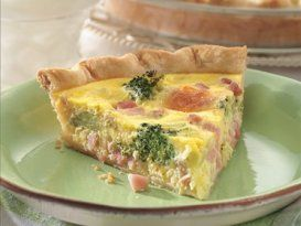 Receta de quiche de jamón y brócoli para cenar con los niños.