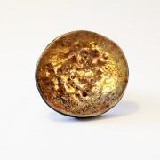 Anello Rabu flat grande color oro brunito