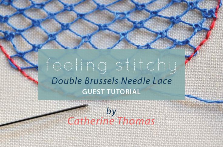 feeling stitchy: Tutorial: Double Brussels Needle Lace Stitch