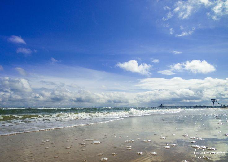 Kaltes frühlingshaftes Wetter hier auf #Usedom am Strand von #Heringsdorf...
