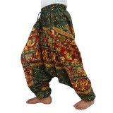Green Harem Loose Long Pants Women Comfortable Sweatpants Free Shipping