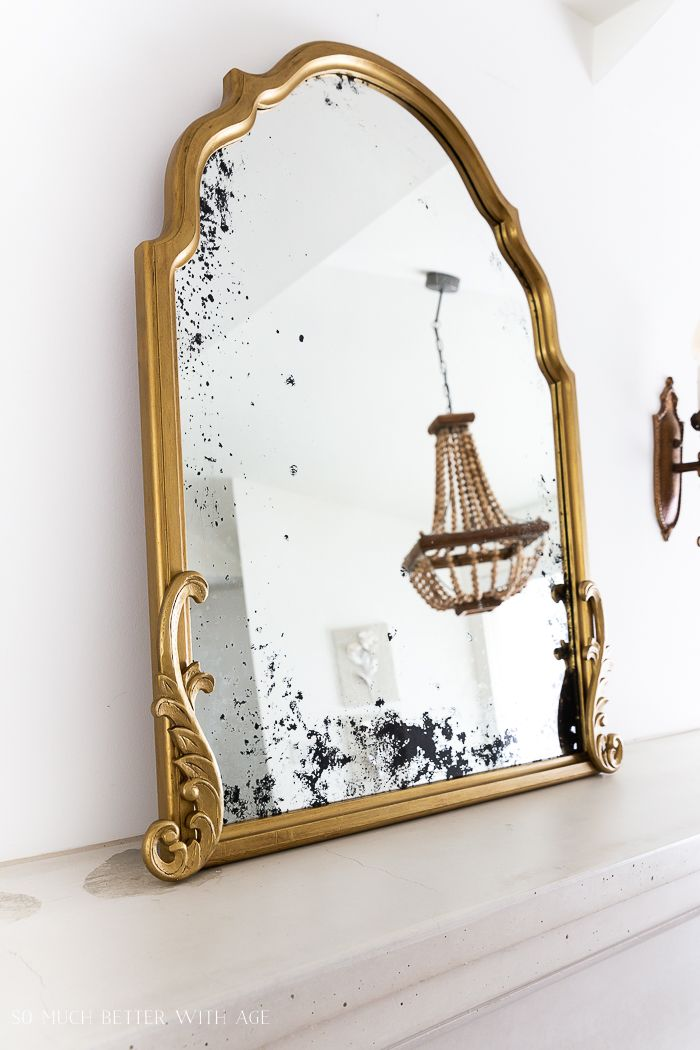Anthropologie Inspired Diy French Gold Mirror Video So Much Better With Age Antique Mirror Diy Mirror Decor Antique Gold Mirror